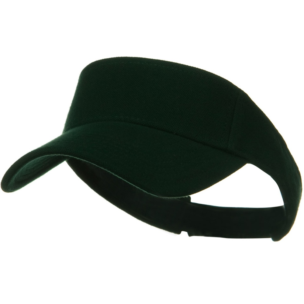 Comfy Cotton Pique Knit Sun Visor - Dark Green - Hats and Caps Online Shop - Hip Head Gear