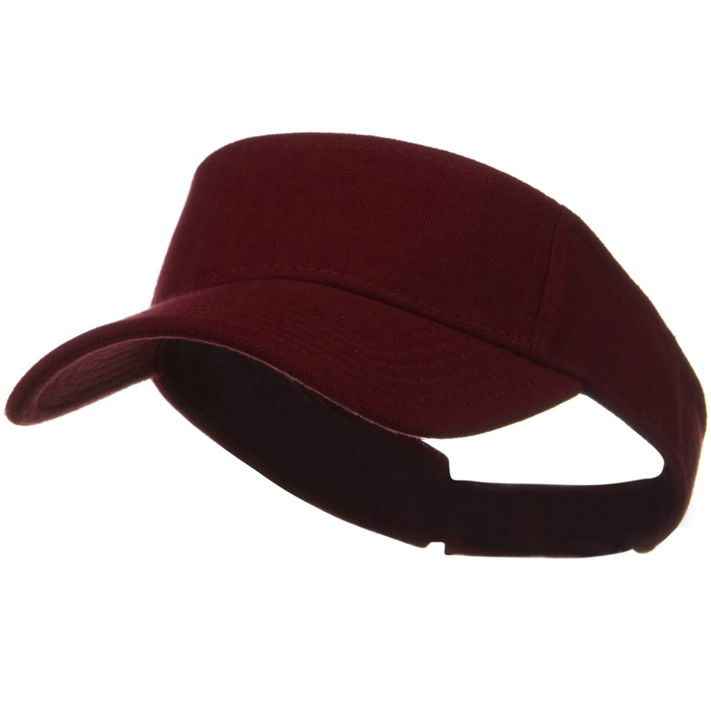 Comfy Cotton Pique Knit Sun Visor - Burgundy - Hats and Caps Online Shop - Hip Head Gear