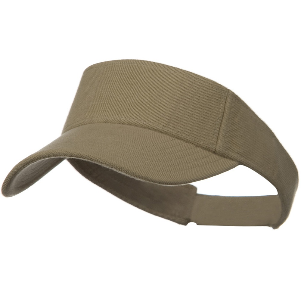 Comfy Cotton Pique Knit Sun Visor - Khaki - Hats and Caps Online Shop - Hip Head Gear