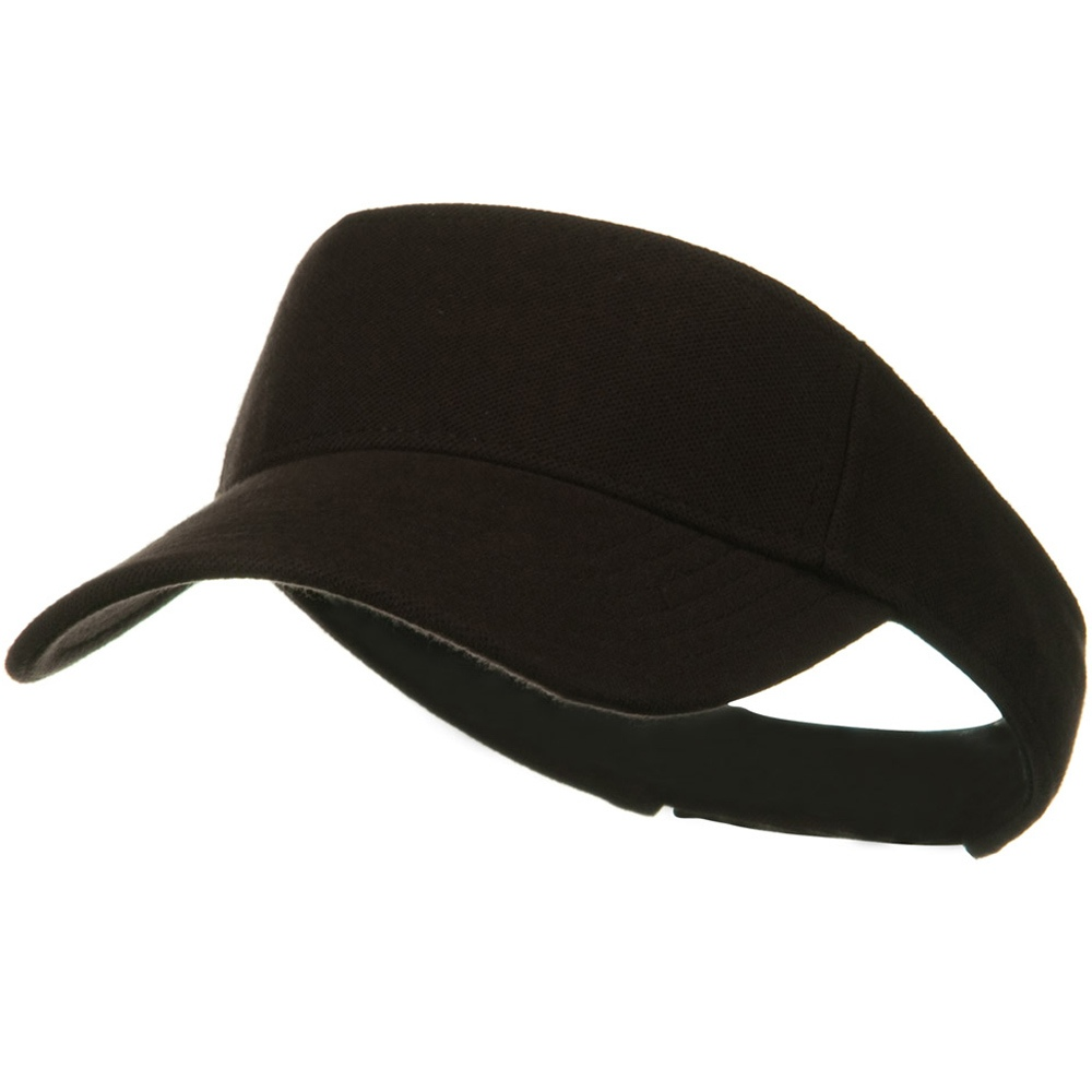 Comfy Cotton Pique Knit Sun Visor - Dark Brown - Hats and Caps Online Shop - Hip Head Gear