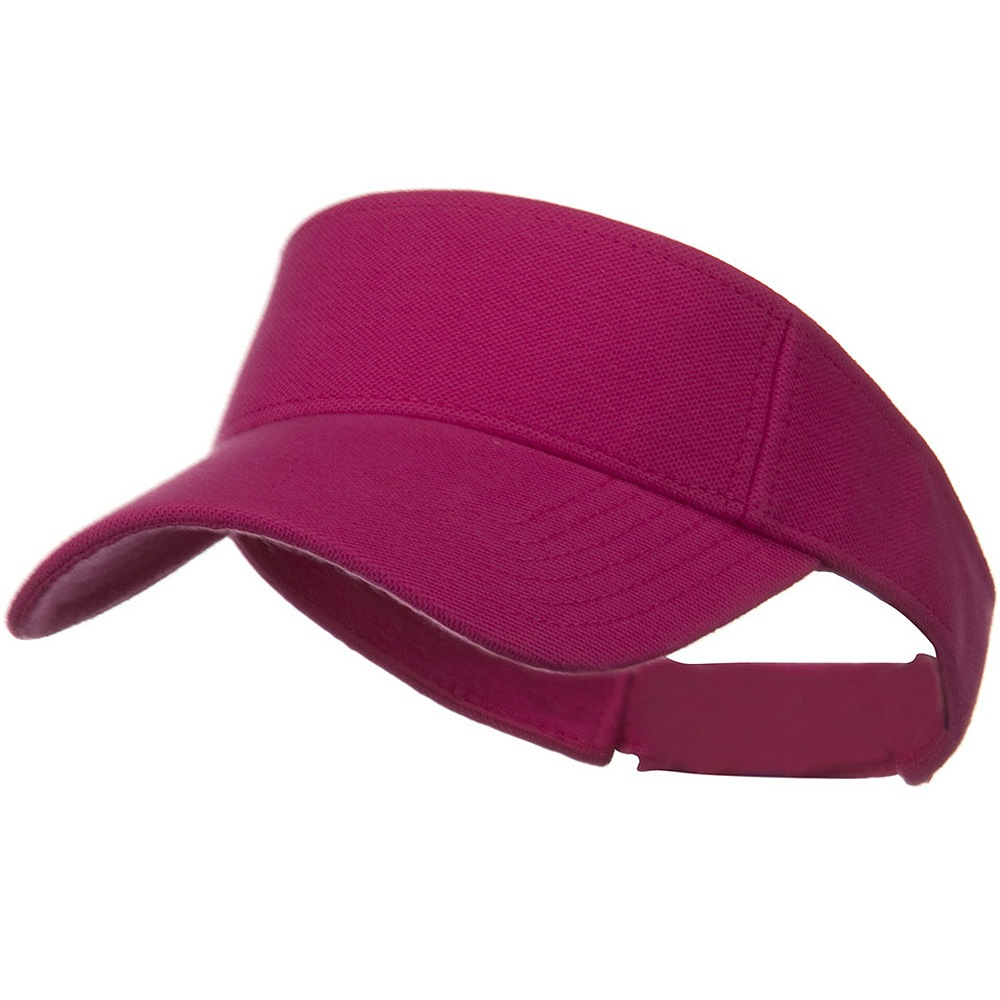 Comfy Cotton Pique Knit Sun Visor - Hot Pink - Hats and Caps Online Shop - Hip Head Gear