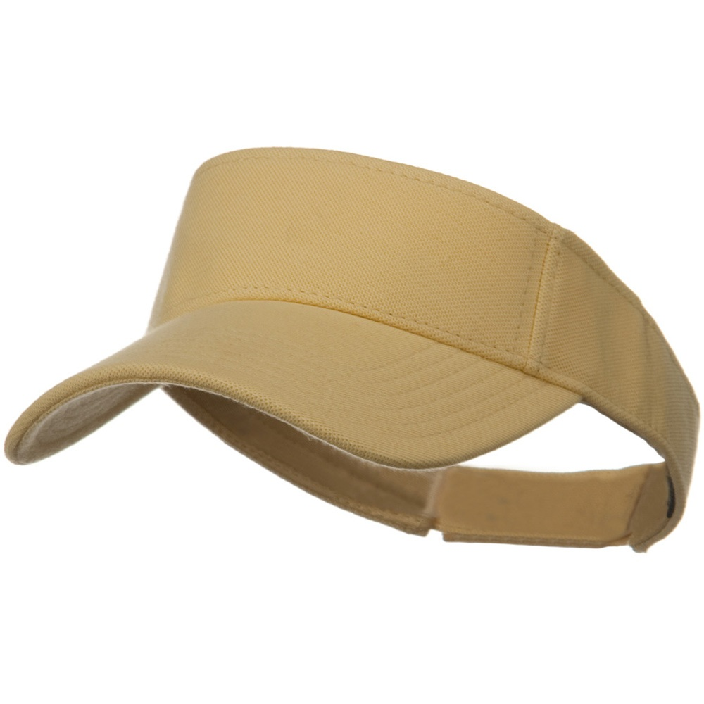 Comfy Cotton Pique Knit Sun Visor - Soft Yellow - Hats and Caps Online Shop - Hip Head Gear