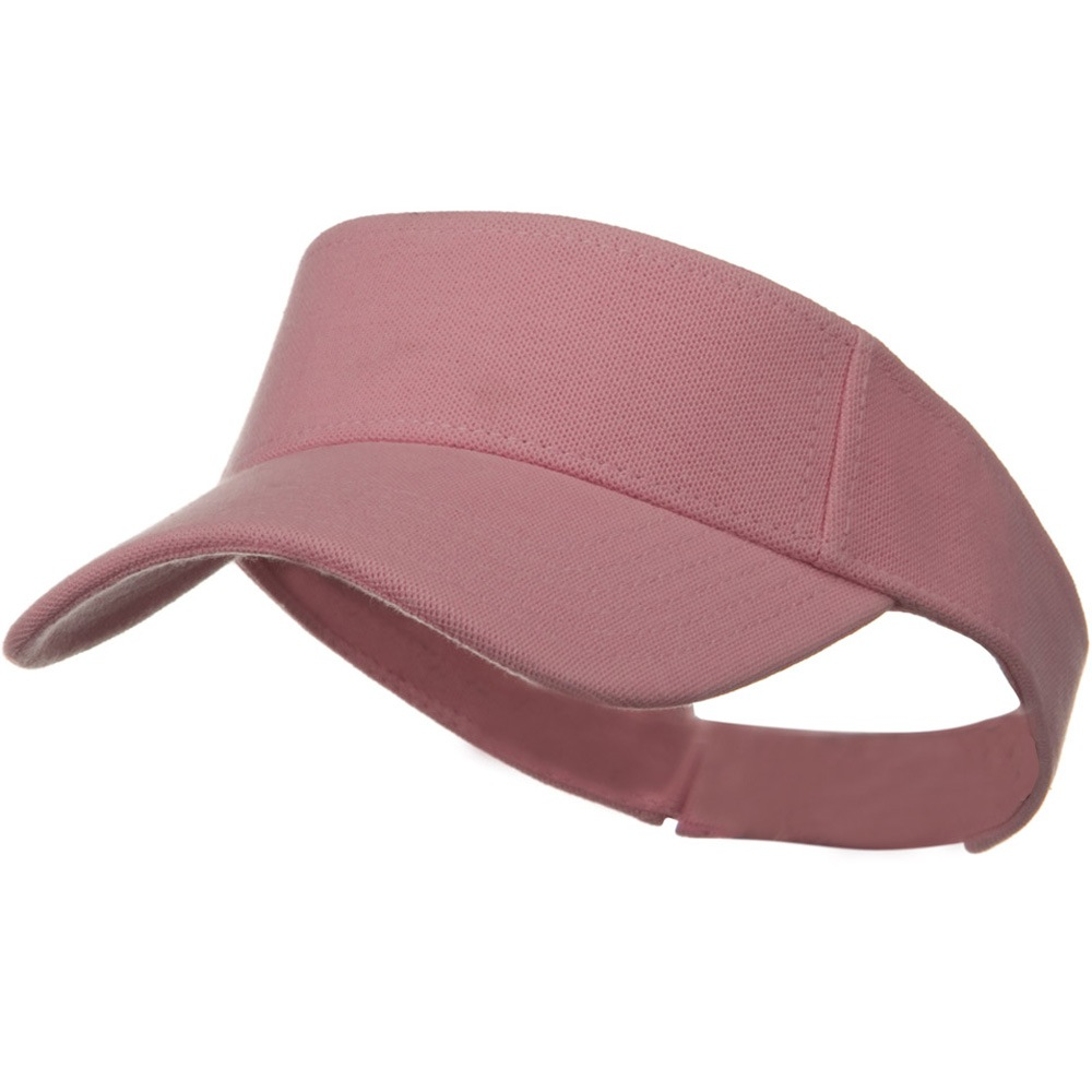 Comfy Cotton Pique Knit Sun Visor - Pink - Hats and Caps Online Shop - Hip Head Gear