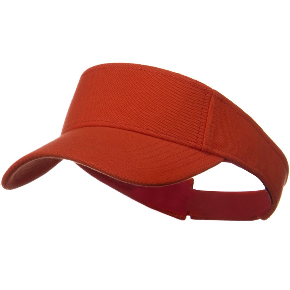 Comfy Cotton Pique Knit Sun Visor - Orange - Hats and Caps Online Shop - Hip Head Gear