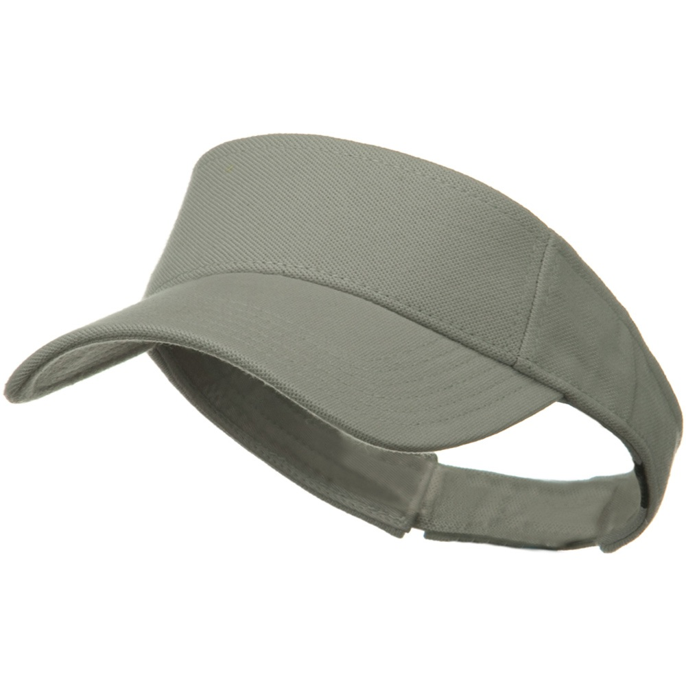Comfy Cotton Pique Knit Sun Visor - Silver - Hats and Caps Online Shop - Hip Head Gear