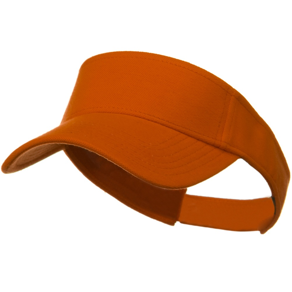 Comfy Cotton Pique Knit Sun Visor - Light Orange - Hats and Caps Online Shop - Hip Head Gear