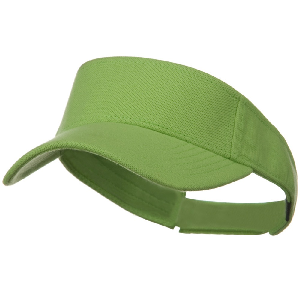 Comfy Cotton Pique Knit Sun Visor - Lime - Hats and Caps Online Shop - Hip Head Gear