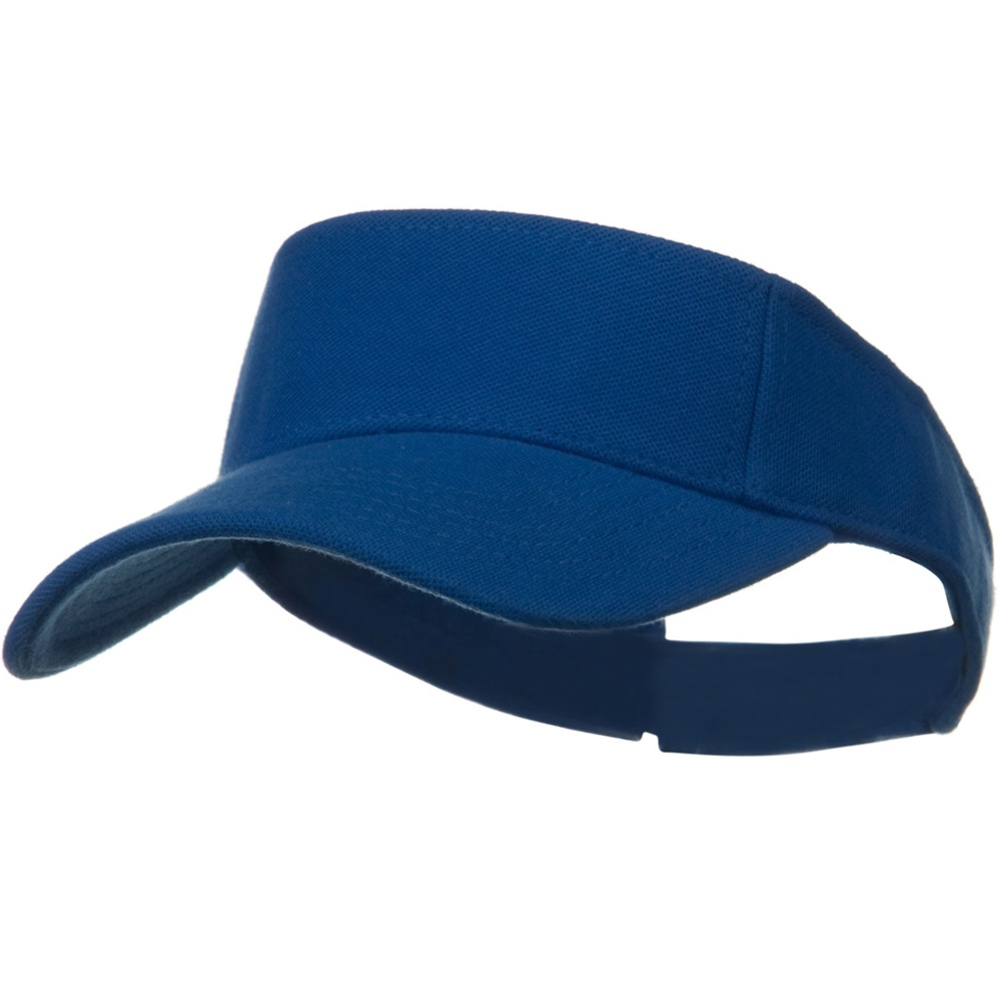 Comfy Cotton Pique Knit Sun Visor - Light Royal - Hats and Caps Online Shop - Hip Head Gear