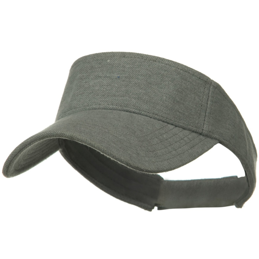 Comfy Cotton Pique Knit Sun Visor - Heather Grey - Hats and Caps Online Shop - Hip Head Gear