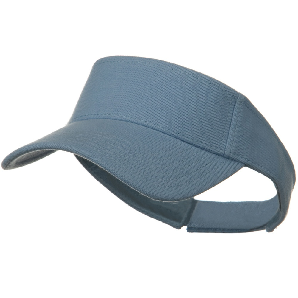 Comfy Cotton Pique Knit Sun Visor - Light Blue - Hats and Caps Online Shop - Hip Head Gear