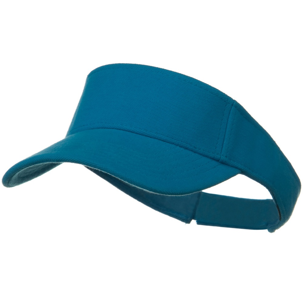 Comfy Cotton Pique Knit Sun Visor - California Blue - Hats and Caps Online Shop - Hip Head Gear