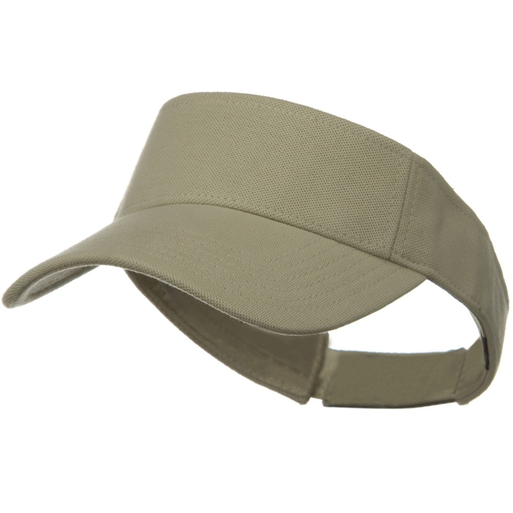 Comfy Cotton Pique Knit Sun Visor - Sand - Hats and Caps Online Shop - Hip Head Gear