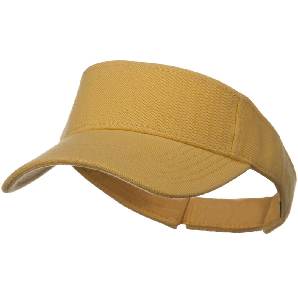 Comfy Cotton Pique Knit Sun Visor - Maize - Hats and Caps Online Shop - Hip Head Gear