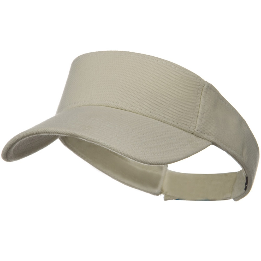 Comfy Cotton Pique Knit Sun Visor - Ivory - Hats and Caps Online Shop - Hip Head Gear