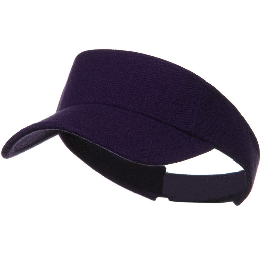 Comfy Cotton Pique Knit Sun Visor - Purple - Hats and Caps Online Shop - Hip Head Gear