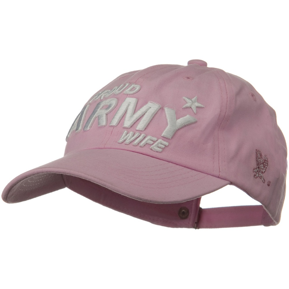 US Army Solid Cotton Cap - Pink Wife