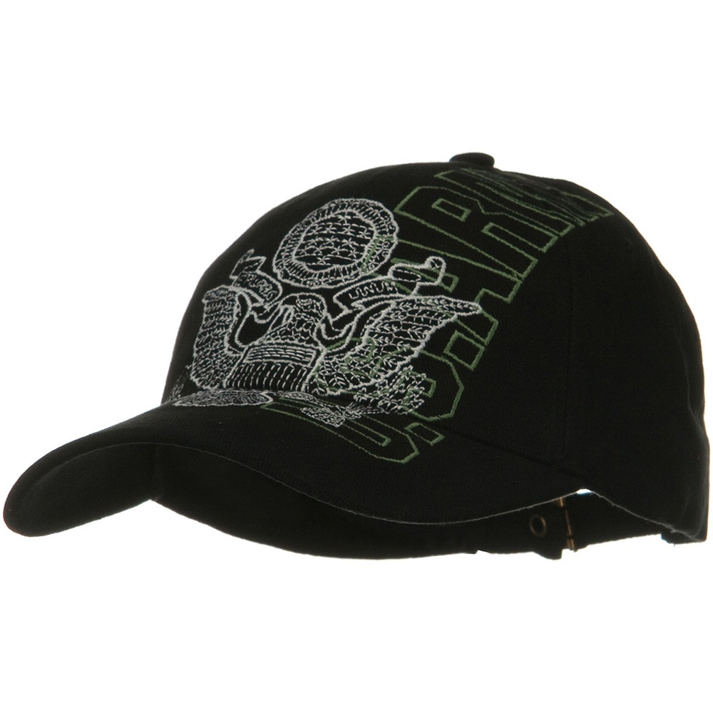 US Army Solid Cotton Cap - Vertical