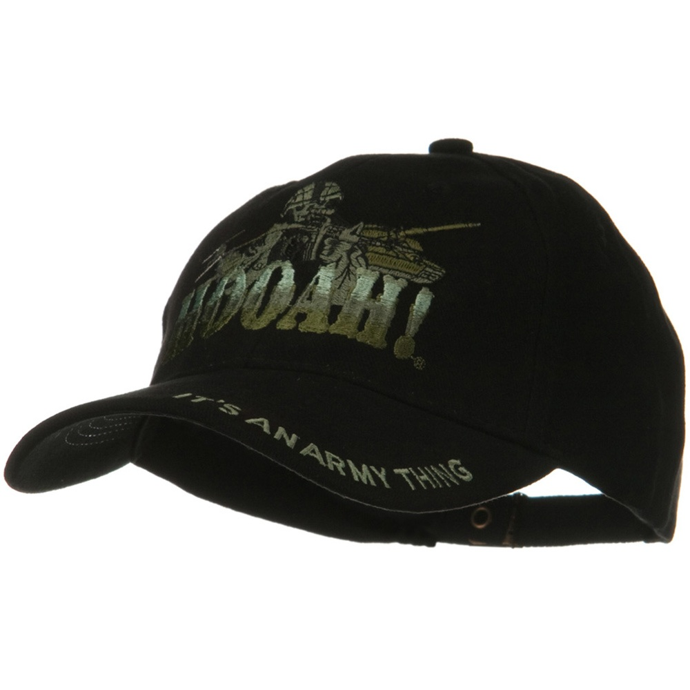 US Army Solid Cotton Cap - Hooah Green