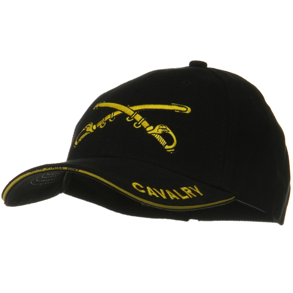 US Army Solid Cotton Cap - Cavalry