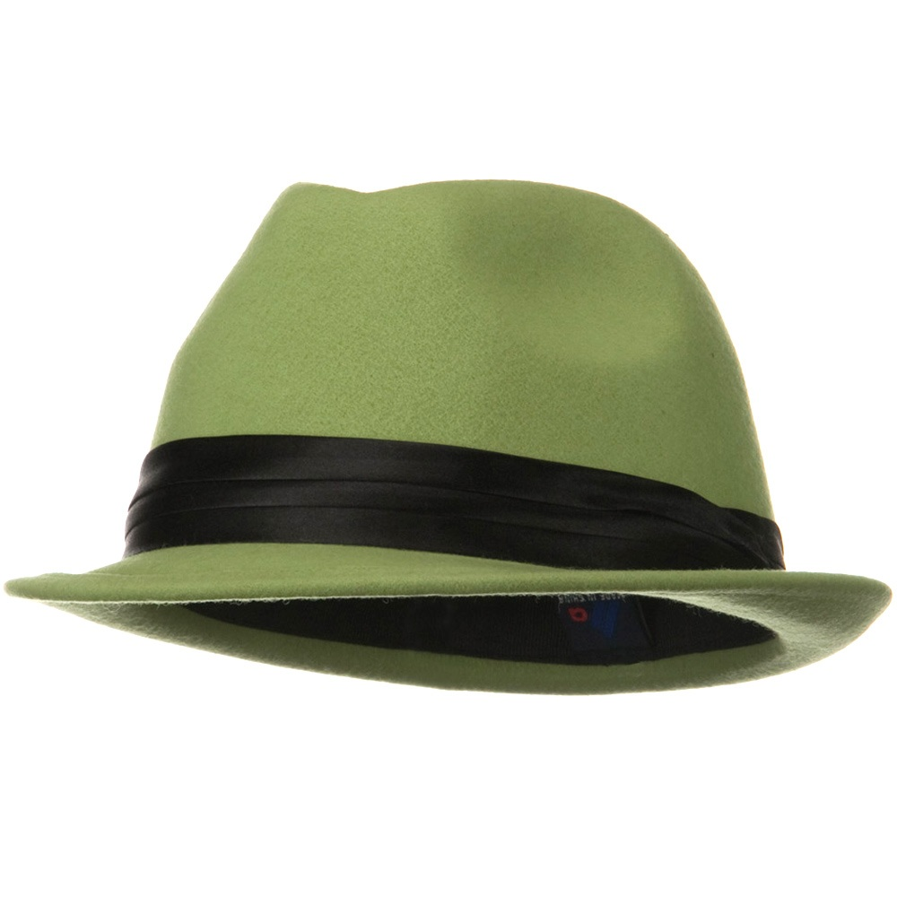 Ladies Wool Felt Fedora Hat - Cactus - Hats and Caps Online Shop - Hip Head Gear