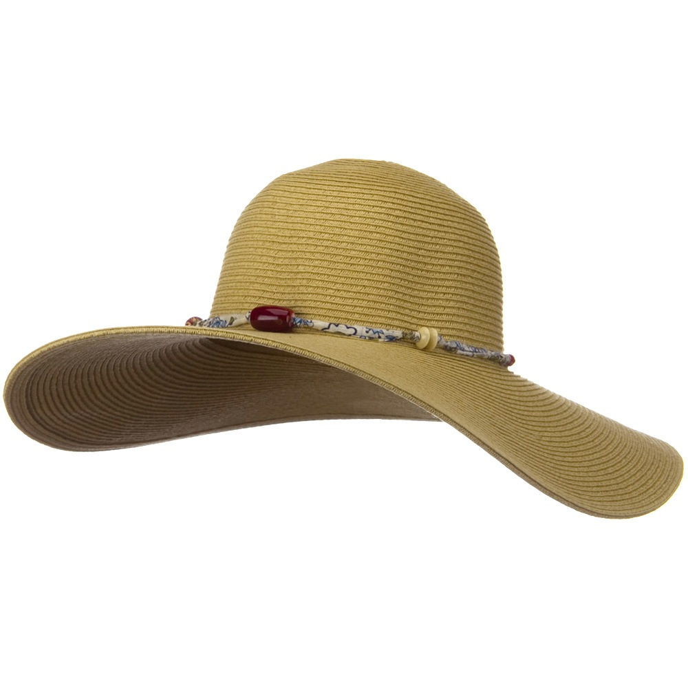 5 Inch Wide Fashion Toyo Hat - Khaki - Hats and Caps Online Shop - Hip Head Gear