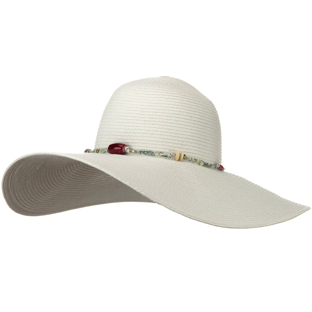 5 Inch Wide Fashion Toyo Hat - White - Hats and Caps Online Shop - Hip Head Gear
