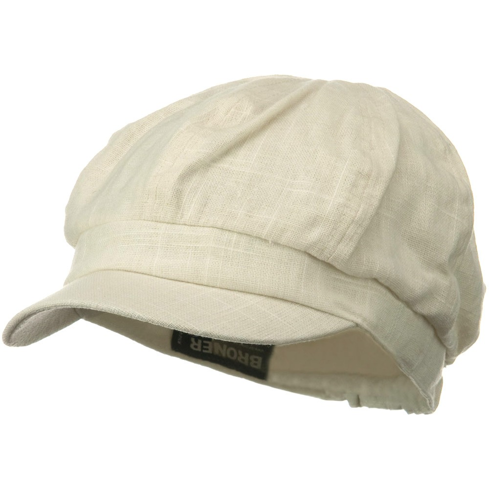 Linen Cabby Cap - Ivory - Hats and Caps Online Shop - Hip Head Gear