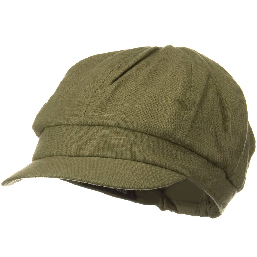 Linen Cabby Cap - Willow - Hats and Caps Online Shop - Hip Head Gear