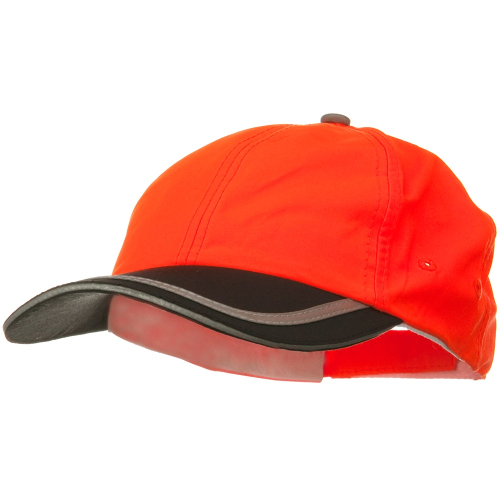 Constructed High Visibility Low Profile Cap - Orange Black - Hats and Caps Online Shop - Hip Head Gear