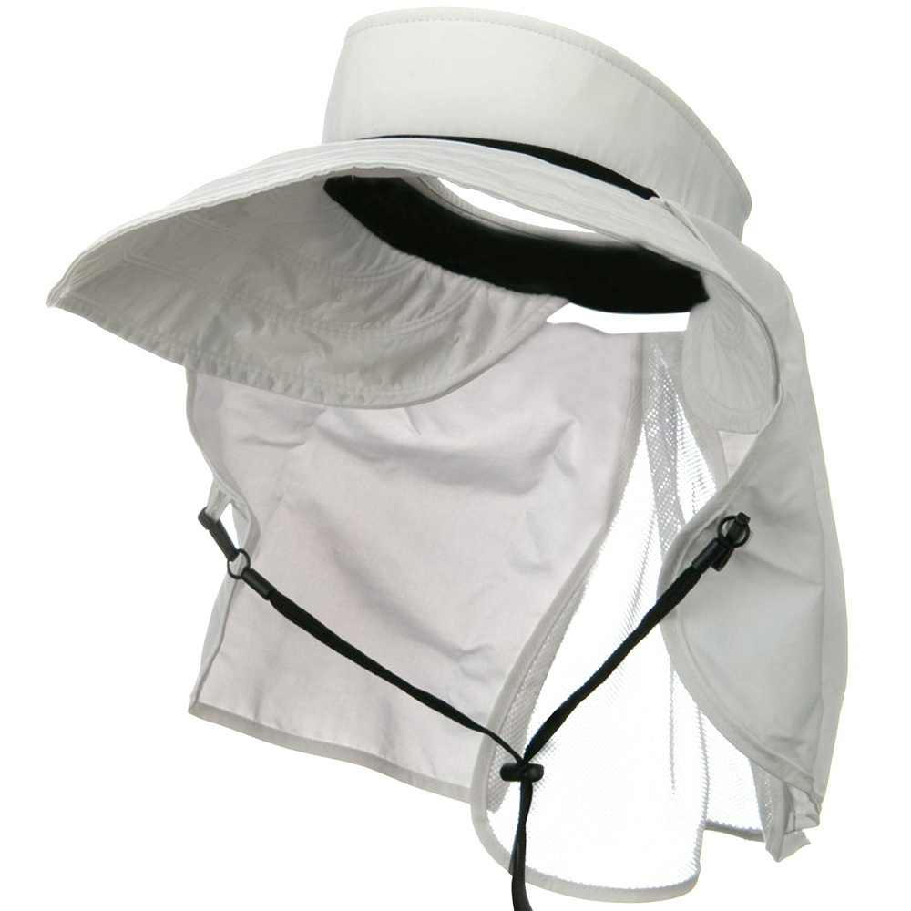 UV 50+ Talson Visor with Flap - White - Hats and Caps Online Shop - Hip Head Gear