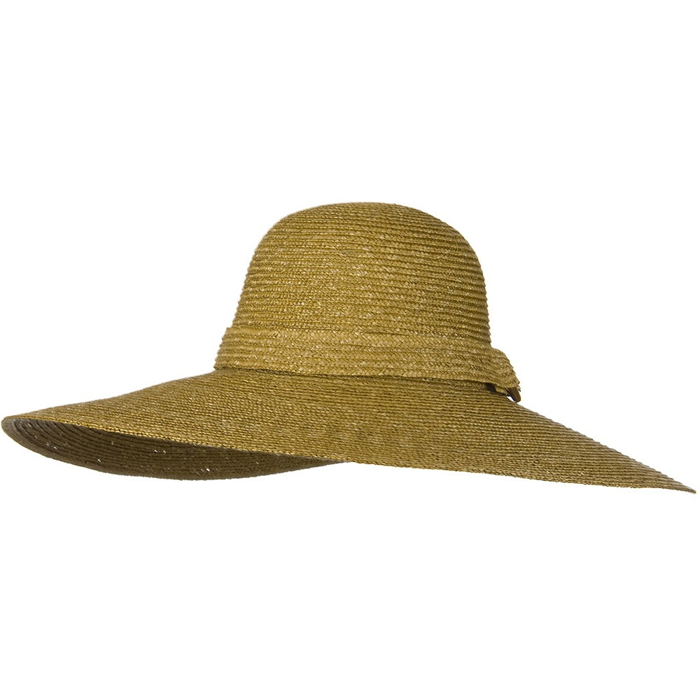 6 Inch Brim Natural Straw ML Hat - Dark Khaki - Hats and Caps Online Shop - Hip Head Gear
