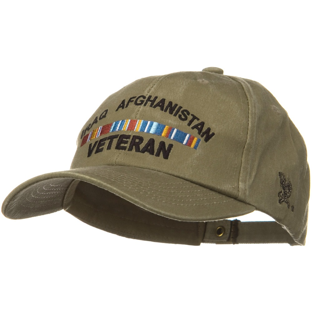 War and Operation Pigment Dyed Washed Cap - Iraq Afghanistan