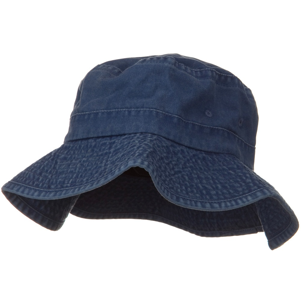 3 Inch Brim Pigment Dyed Cotton Bucket - Navy - Hats and Caps Online Shop - Hip Head Gear
