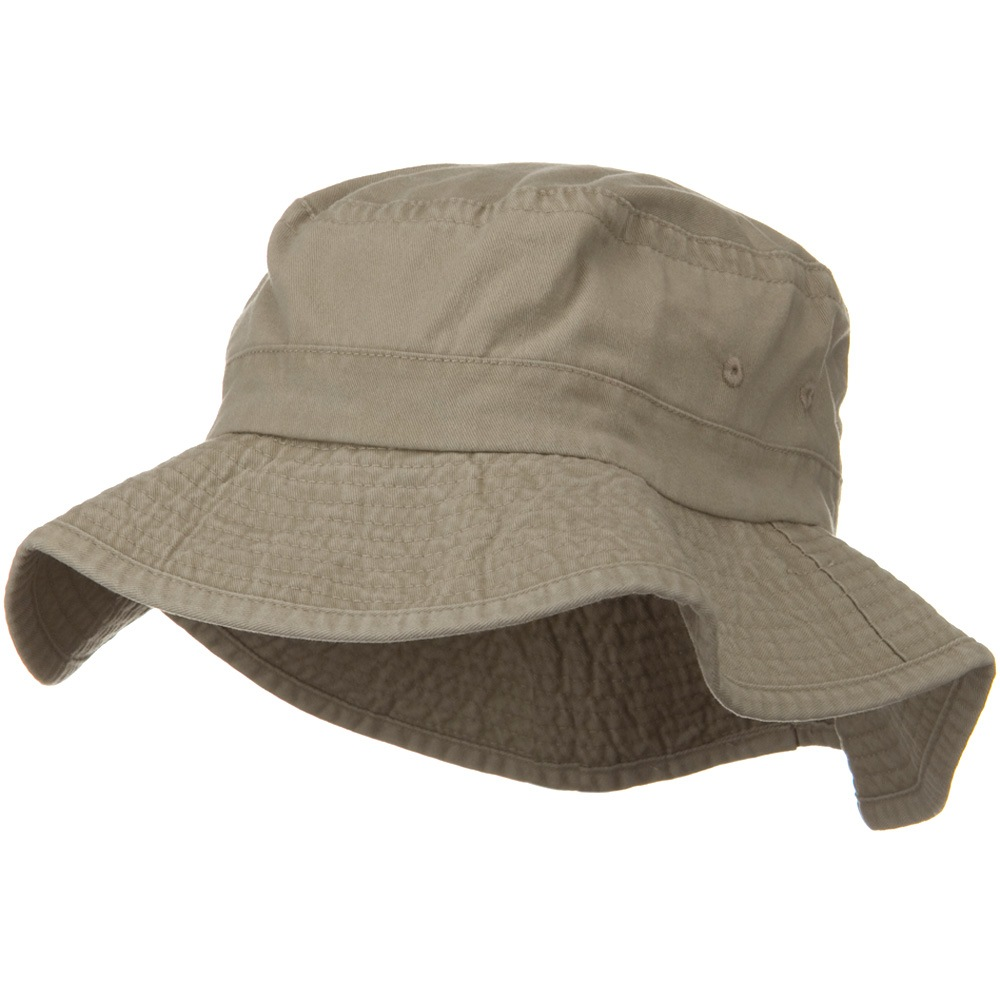 3 Inch Brim Pigment Dyed Cotton Bucket - Khaki - Hats and Caps Online Shop - Hip Head Gear