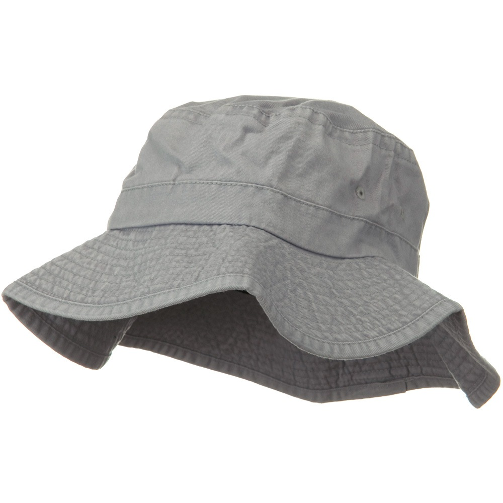 3 Inch Brim Pigment Dyed Cotton Bucket - Light Grey - Hats and Caps Online Shop - Hip Head Gear