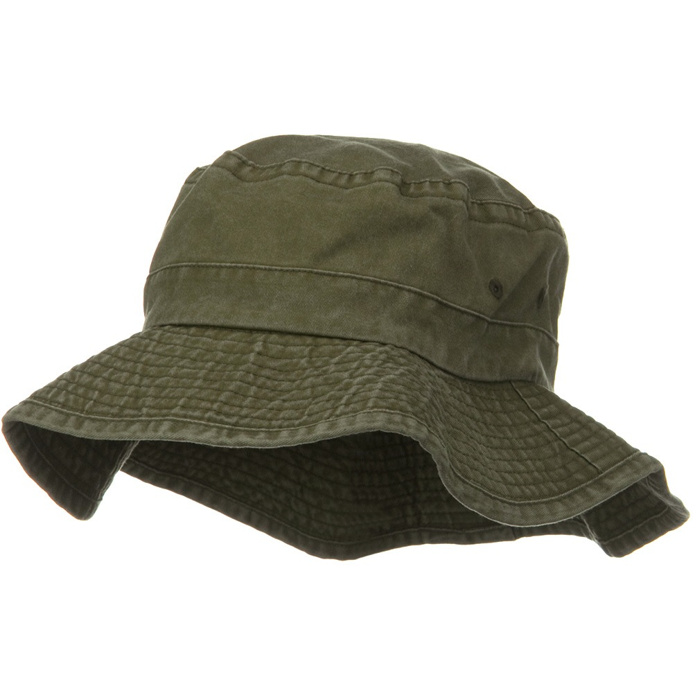 3 Inch Brim Pigment Dyed Cotton Bucket - Olive - Hats and Caps Online Shop - Hip Head Gear