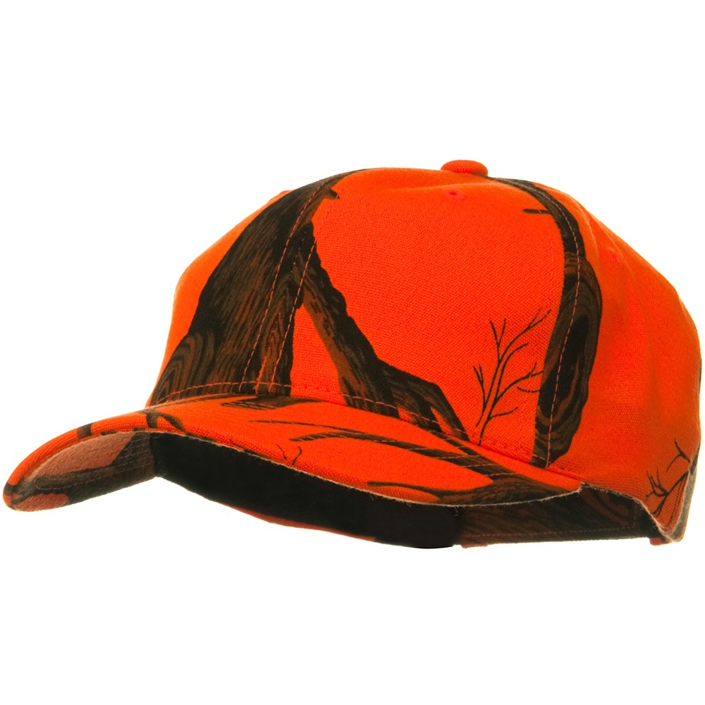 Mossy Oak Camo Cap - Blaze Orange Tree Stand - Hats and Caps Online Shop - Hip Head Gear