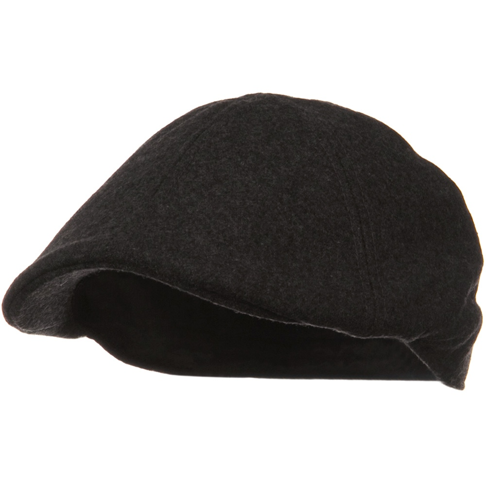 Solid Wool Blend Ivy Cap - Charcoal - Hats and Caps Online Shop - Hip Head Gear