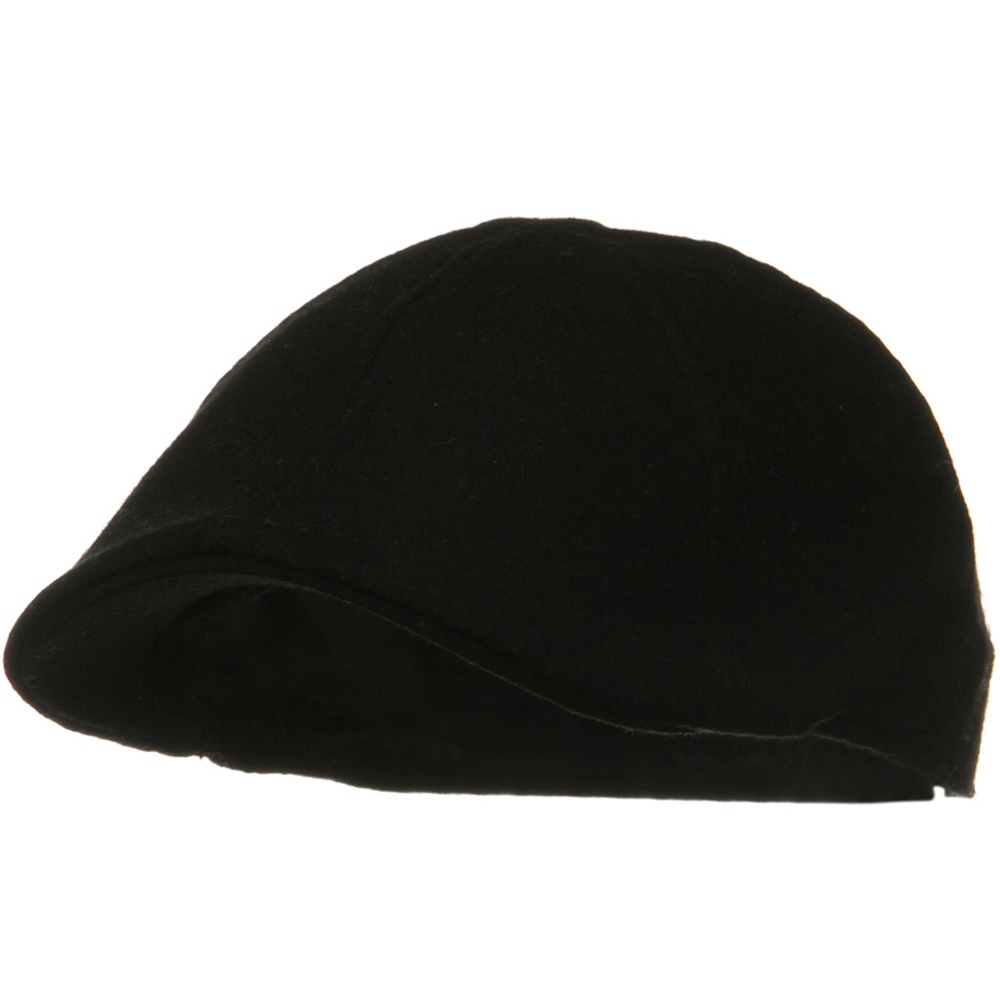 Solid Wool Blend Ivy Cap - Black - Hats and Caps Online Shop - Hip Head Gear