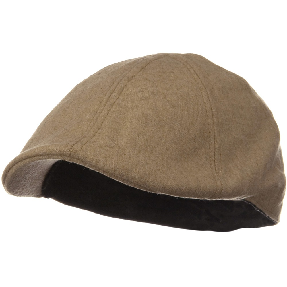 Solid Wool Blend Ivy Cap - Khaki - Hats and Caps Online Shop - Hip Head Gear