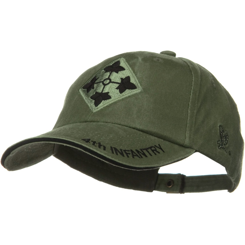 US Army Unit Pigment Dyed Cap - 4th Infantry