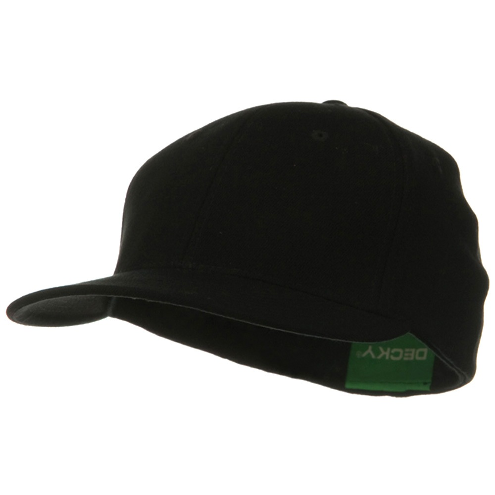 Acrylic Flat Bill Flex Cap - Black - Hats and Caps Online Shop - Hip Head Gear