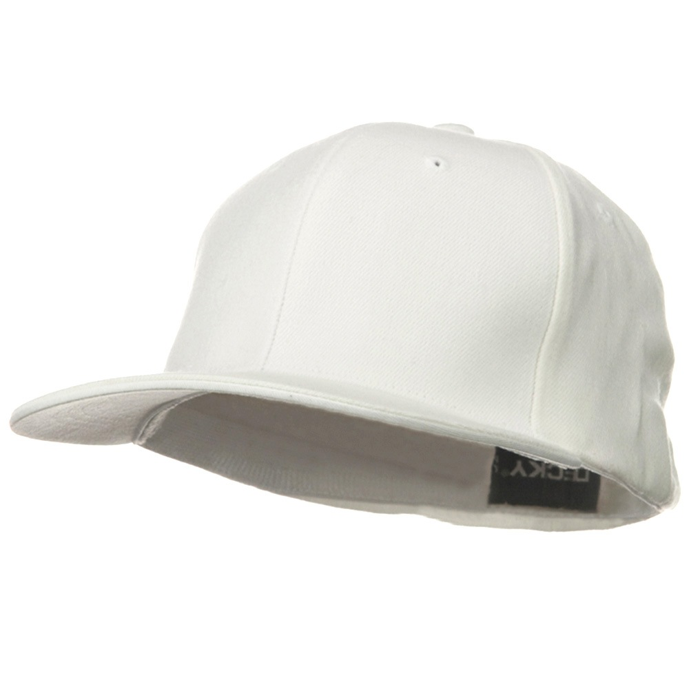 Acrylic Flat Bill Flex Cap - White - Hats and Caps Online Shop - Hip Head Gear