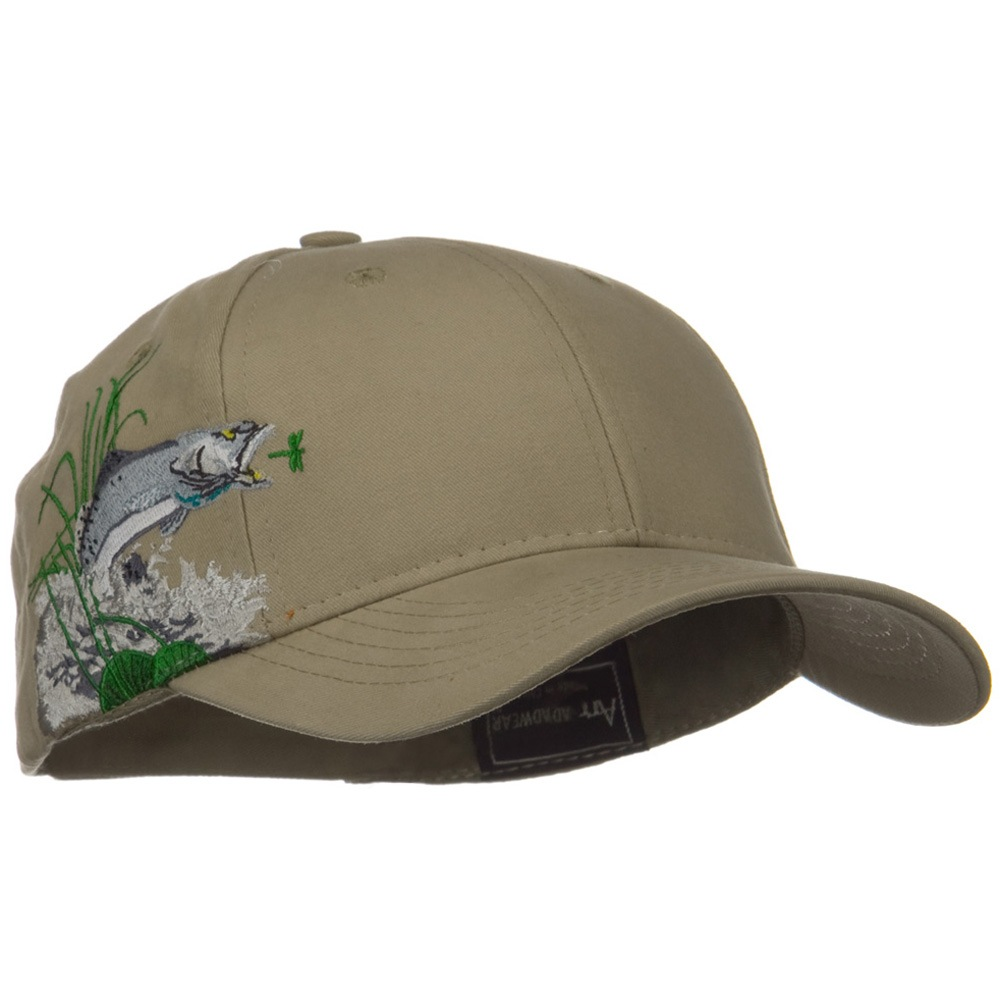 Hunting Animal Embroidery Theme Cap - Trout