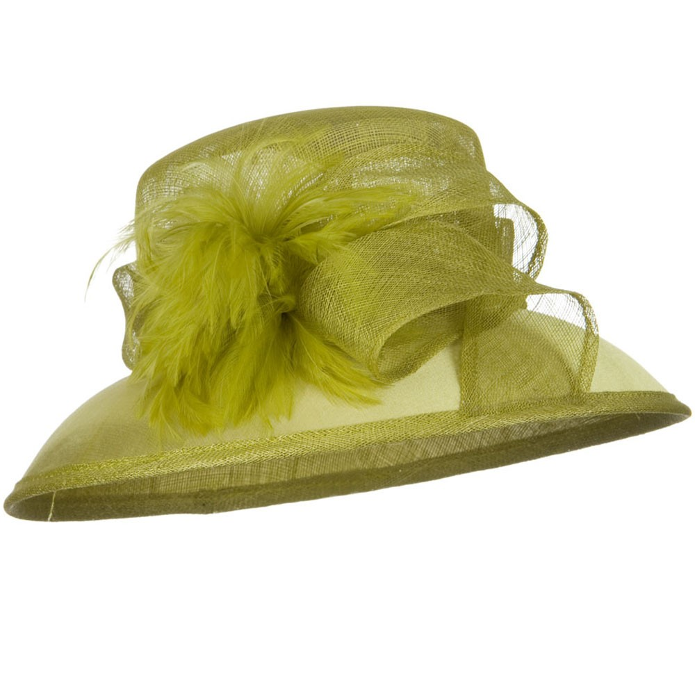 SM Covered Brim Sinamay Hat - Lime - Hats and Caps Online Shop - Hip Head Gear