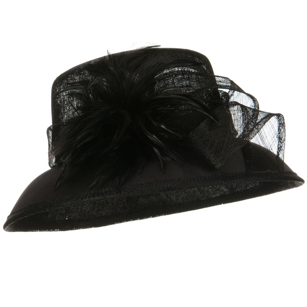 SM Covered Brim Sinamay Hat - Black - Hats and Caps Online Shop - Hip Head Gear