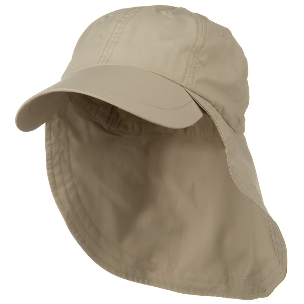 Supplex Long Bill Neck Cap - Khaki - Hats and Caps Online Shop - Hip Head Gear