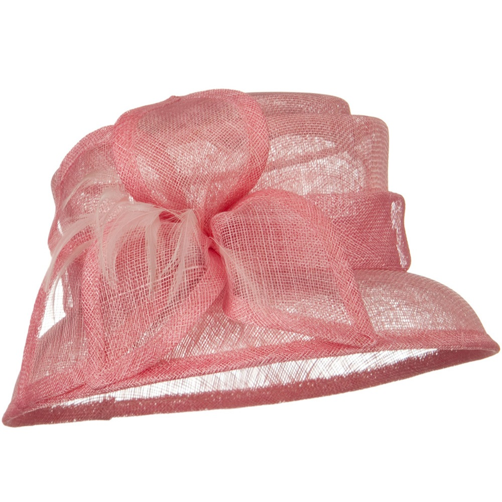 SM Brim Flower Ribbon Sinamay Hat - Pink - Hats and Caps Online Shop - Hip Head Gear