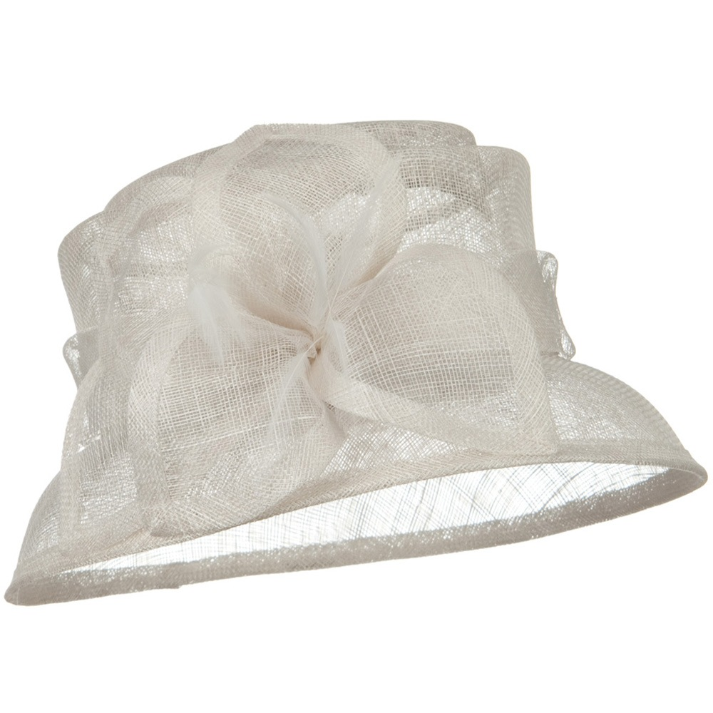 SM Brim Flower Ribbon Sinamay Hat - White - Hats and Caps Online Shop - Hip Head Gear