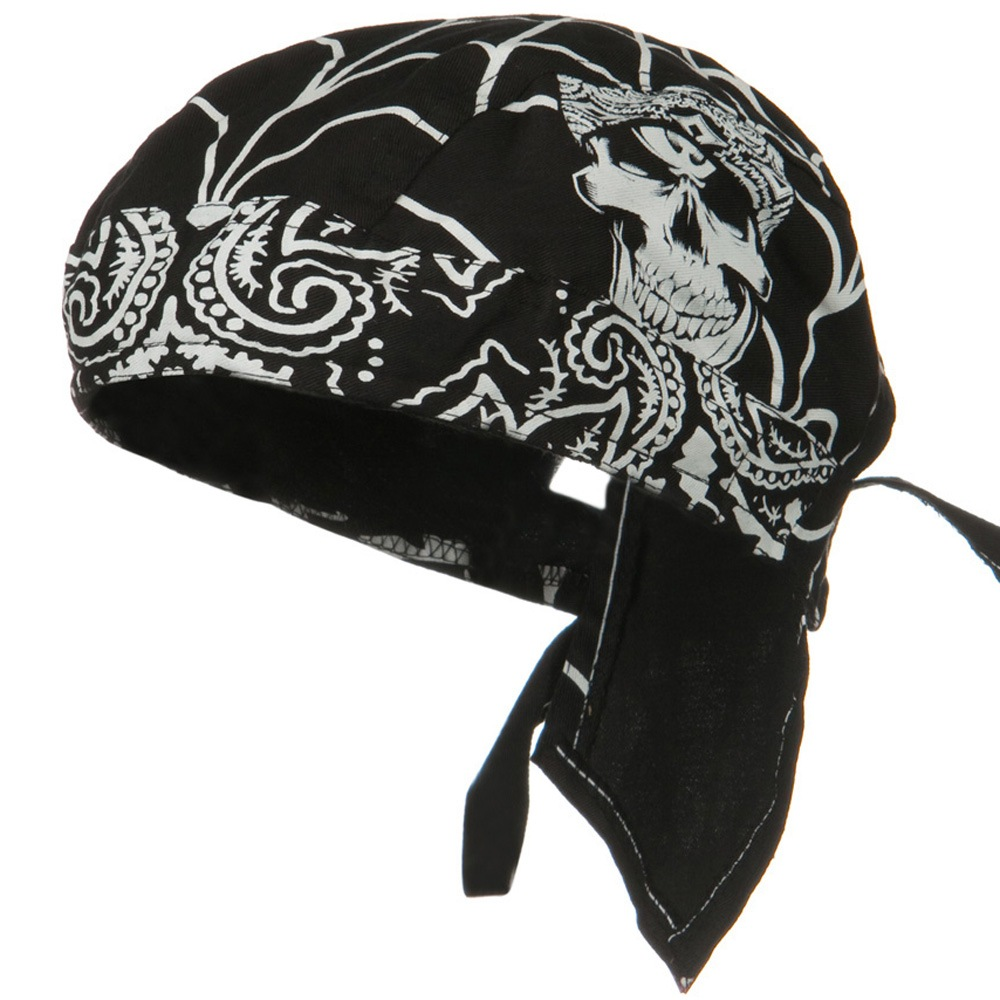 Road Hog Lethal Threat Sweatband Headwrap - Gangster Skull - Hats and Caps Online Shop - Hip Head Gear